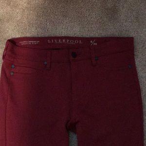 Liverpool burgundy skinnies- Stitch Fix. Size 6